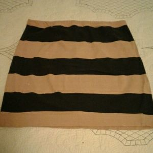 Tan and navy blue skirt